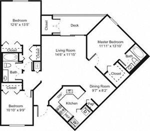 Palm Trace| 3B Future Floor Plan 3 Bed 2 Bath