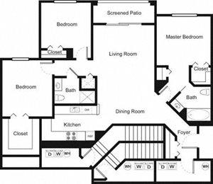 Palm Trace| 3C Future Floor Plan 3 Bed 2 Bath