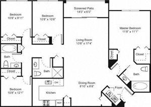 Palm Trace| 4A Future Floor Plan 4 Bed 3 Bath