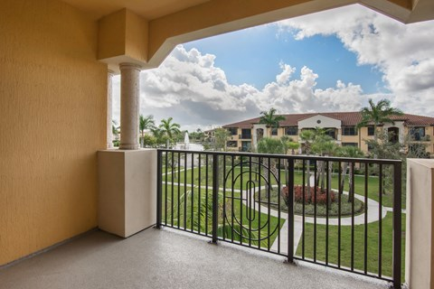 Spacious Patio at Park Aire Apartments