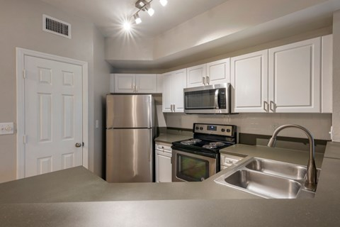 The Park at Turtle Run Kitchen with Stainless Steel Appliances