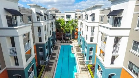 Red Road Commons Student Living Heated Pool in South Miami