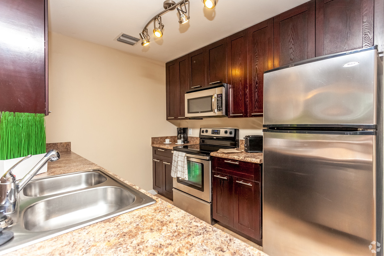 Red Road Commons Student Living Miami, FL Kitchen With Stainless Steel  Appliances
