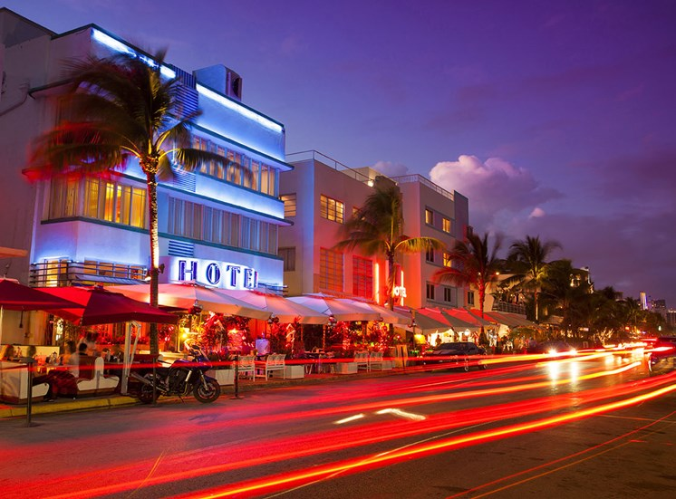 stock image of nightlife in miami
