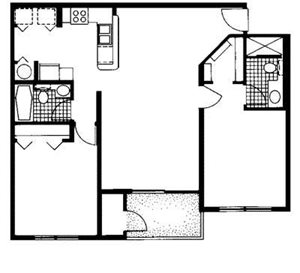 The Reserve at Ashley Lake |Cypress Floor Plan 2  Bedroom 2 Bath