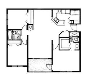 The Reserve at Ashley Lake | Hibiscus  Floor Plan 3  Bedroom 2 Bath
