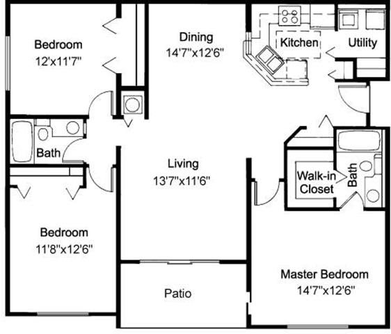 Floor Plans Of Sabal Pointe Apartments In Coral Springs, FL