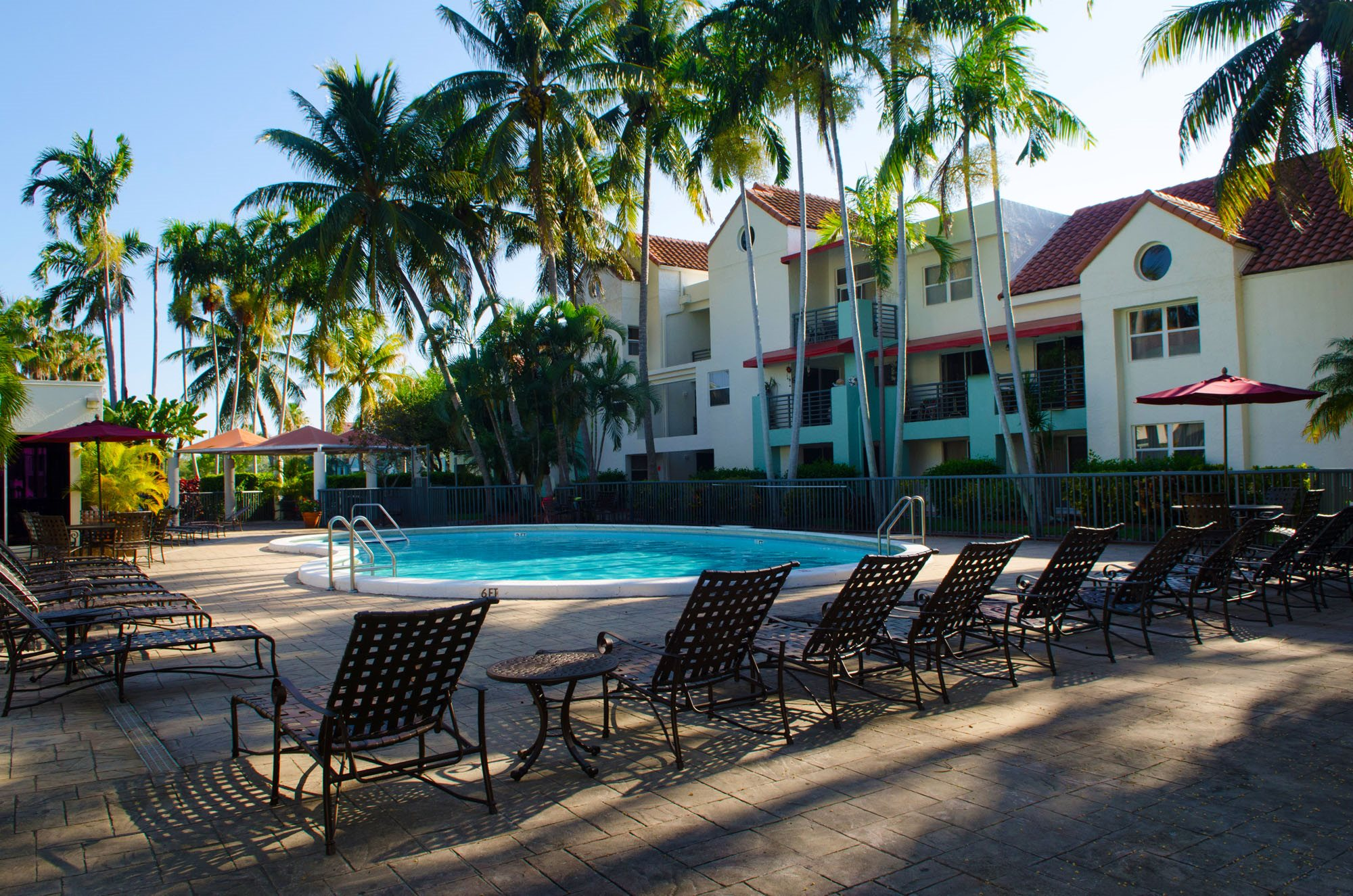 Pool Side Relaxing Area at Sheridan Ocean Club, Dania Beach, FL,33004