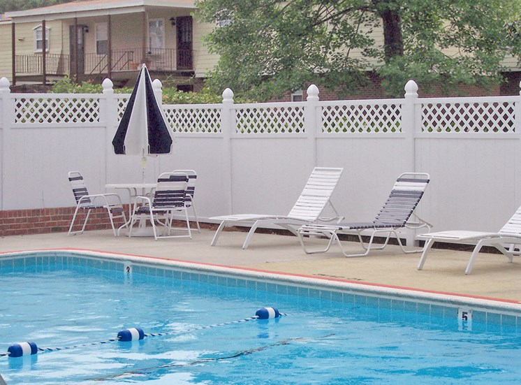 Pool at Chateau Terrace Apartments in Wilmington NC