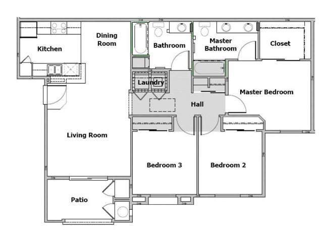 3 Bedroom Floor Plan 2