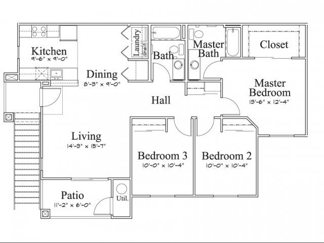 3 Bedroom Floor Plan 1