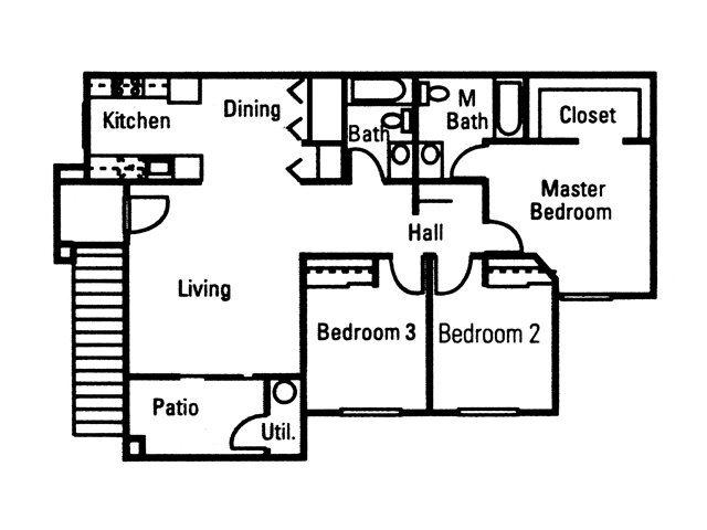 Three Bedroom Floor Plan 2