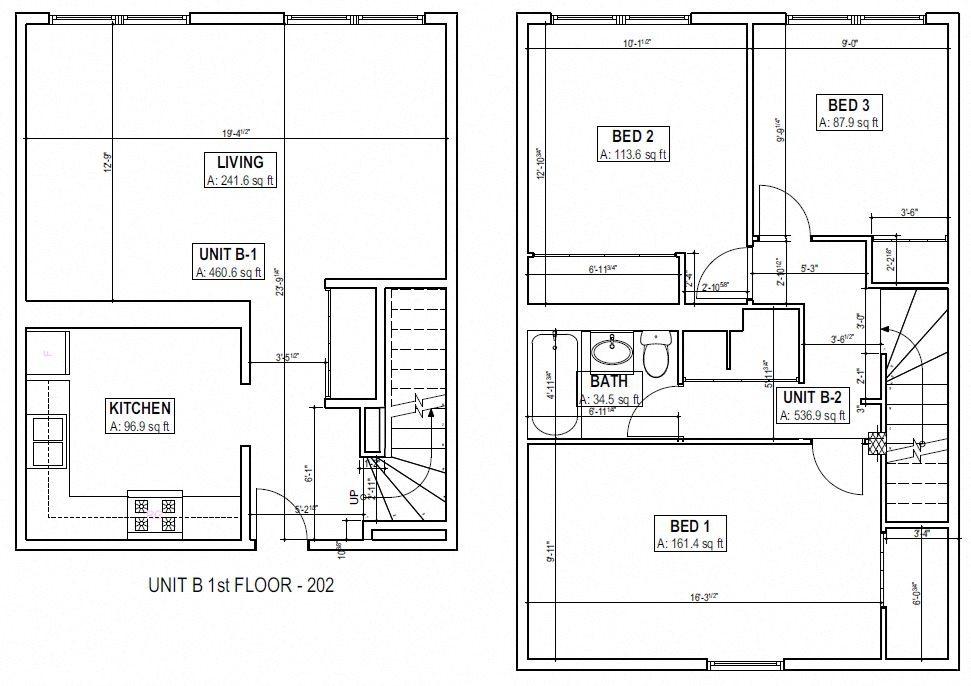 Three Bedroom Floor Plan 4