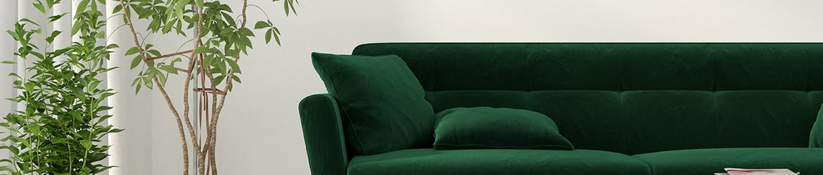 2 Green Sofa stock image