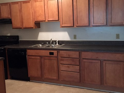 renovated kitchen  at Wedgwood Apartments in Raleigh, NC
