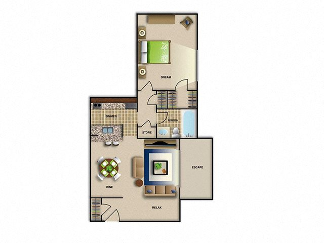 one bedroom in Raleigh NC