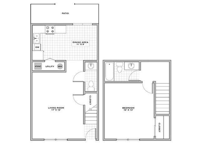 One bedroom townhouse for rent