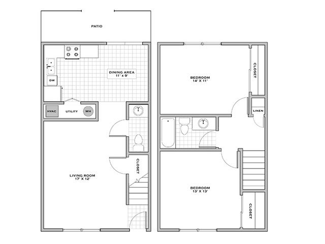 2 bedroom towhnhouse for rent