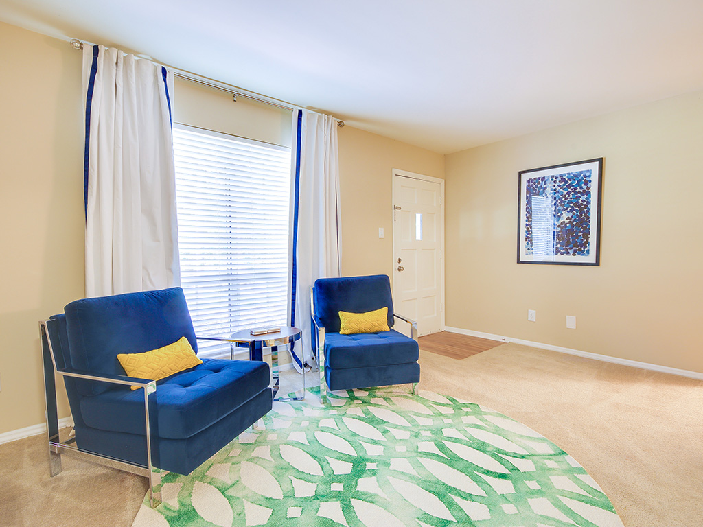 Carpeted Living Room at Montecito, Raleigh, 27609