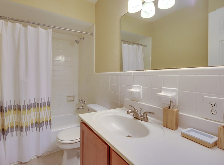 Bathroom at Montecito Apartments, Raleigh, North Carolina