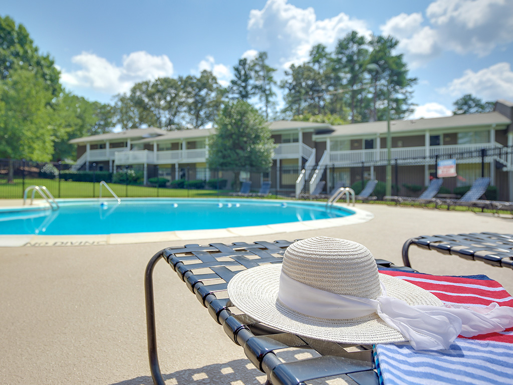 Swimming Pool with Lounge Chairs at Montecito, Raleigh
