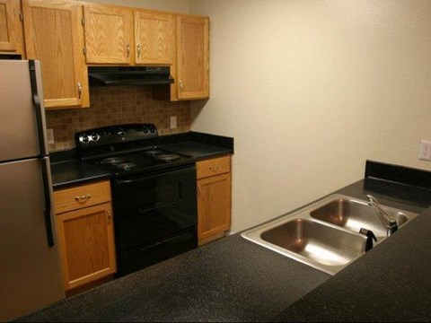 Kitchen at Pine Winds Apartments in Raleigh NC