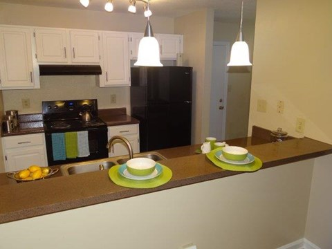 Kitchen at Pine Winds Apartments in Raleigh NC 2