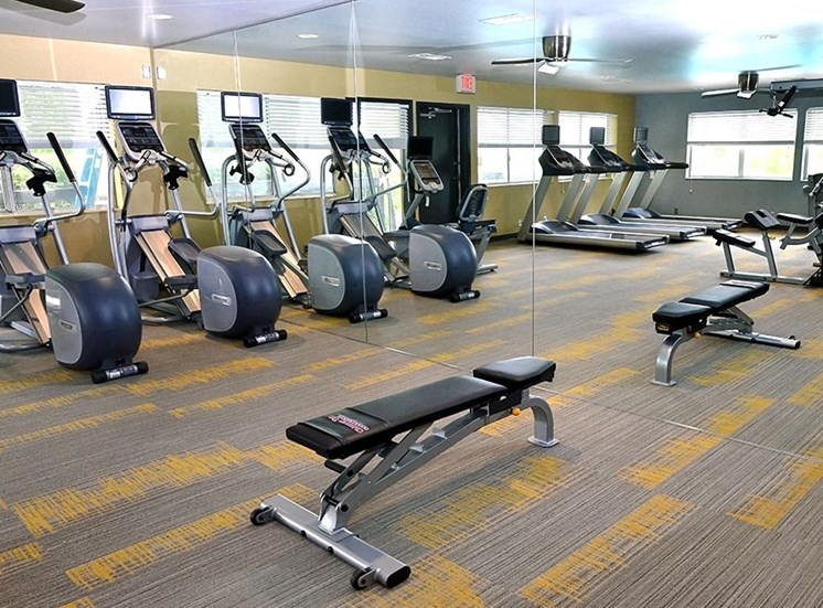 Gym at at Chimney Top Apartments in Antioch TN
