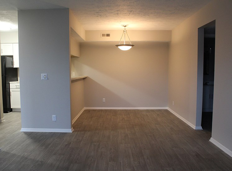 Living area at Chimney Top Apartments