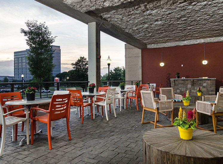 Veranda Chairs and Tables at City Block Apartments
