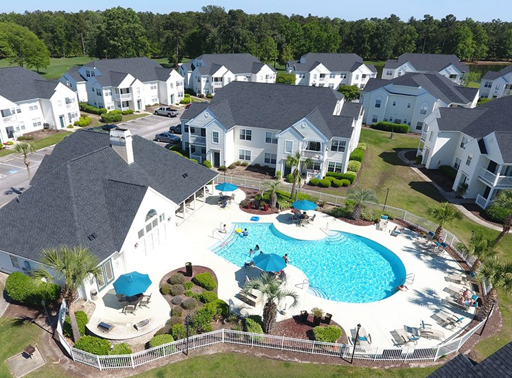 Aerial of  Apartments in Myrtle Beach SC