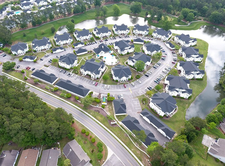 Aerial of Flintlake Apartments Community in Myrtle Beach