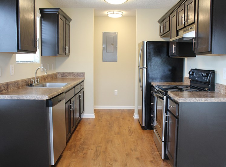 Renovated Kitchen at Flintlake Apartments