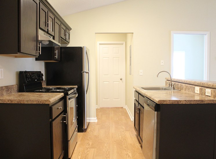 kitchen at Flint Lake Apartments in Myrtle Beach