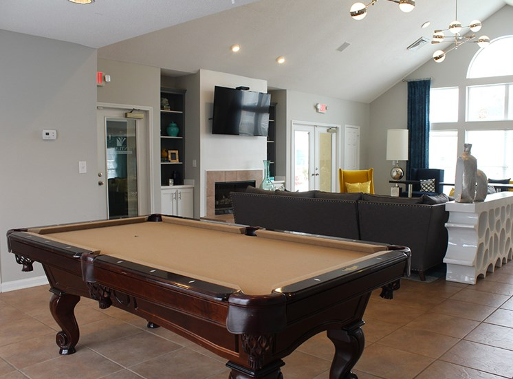 Pool table at Flintlake Apartments
