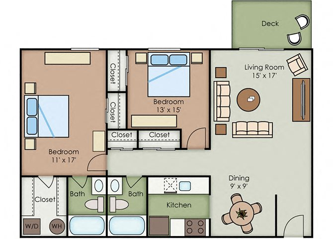 2-2 Large floor plan.