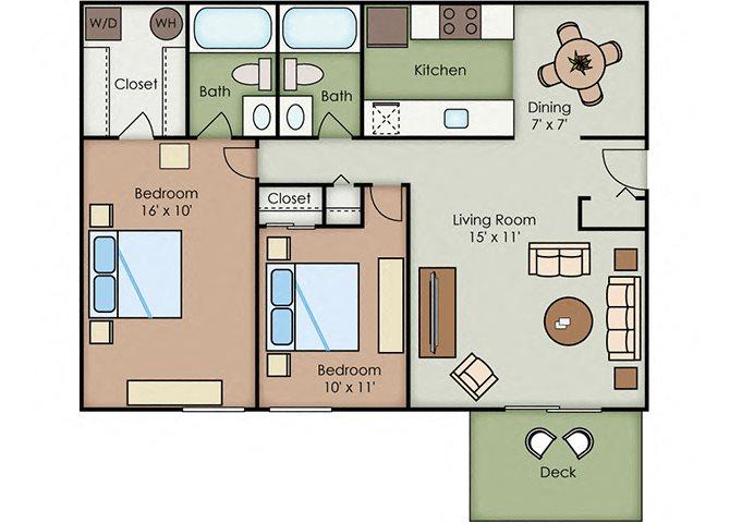 2-2 Classic floor plan.