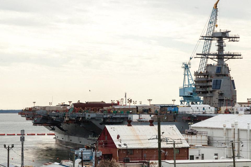 Shipyard views at Liberty Apartments in Newport News