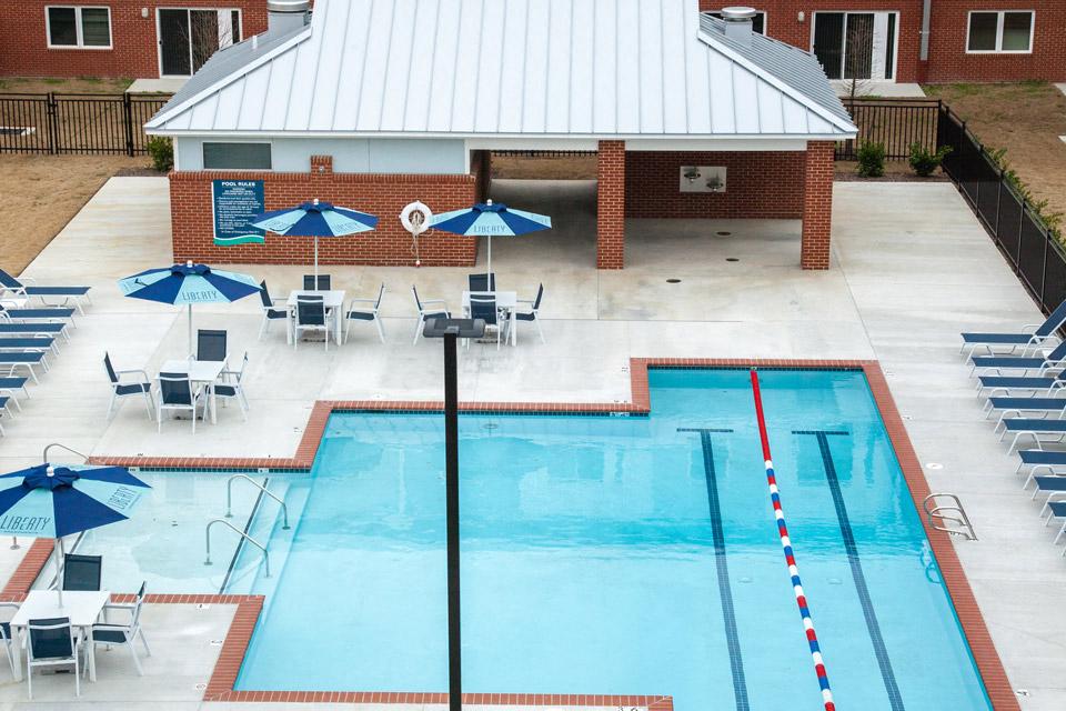 pool at liberty apartments in Newport News