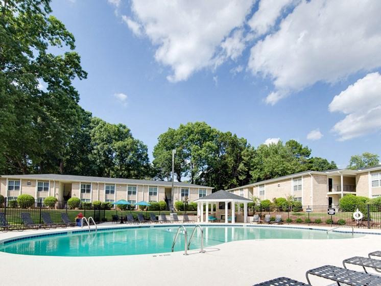 Montecito West Apartments Pool in Raleigh NC at Montecito West, North Carolina