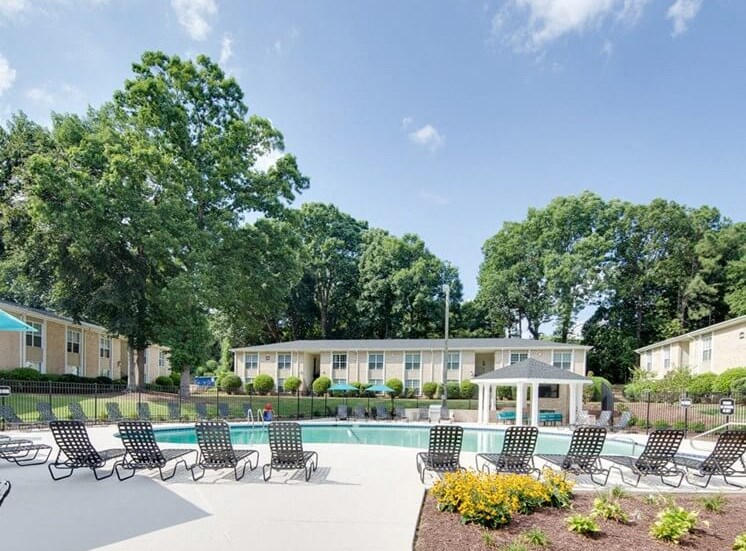 Montecito West Apartments Pool in Raleigh NC at Montecito West, Raleigh