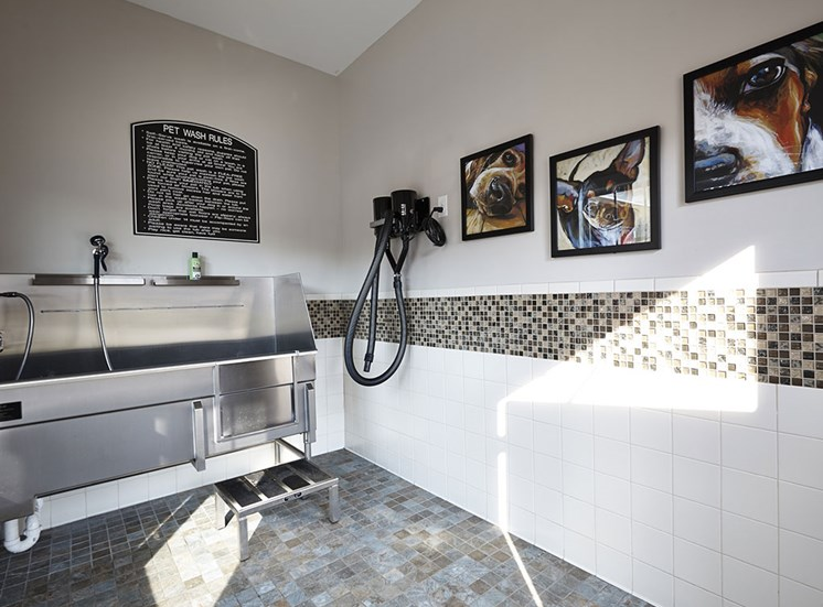 Pet Washing Room at Pet friendly apartments near Southern Pines