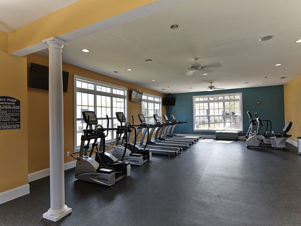 Gym at Southern Pines Apartments