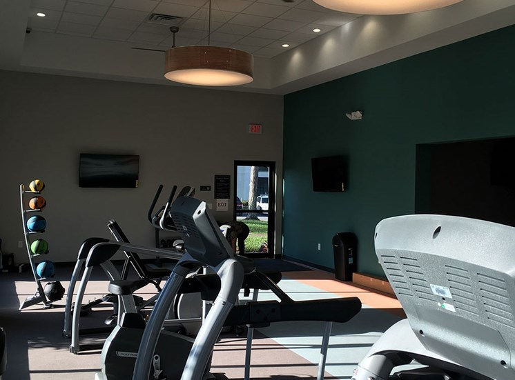 Fitness center at Orlando FL apartments