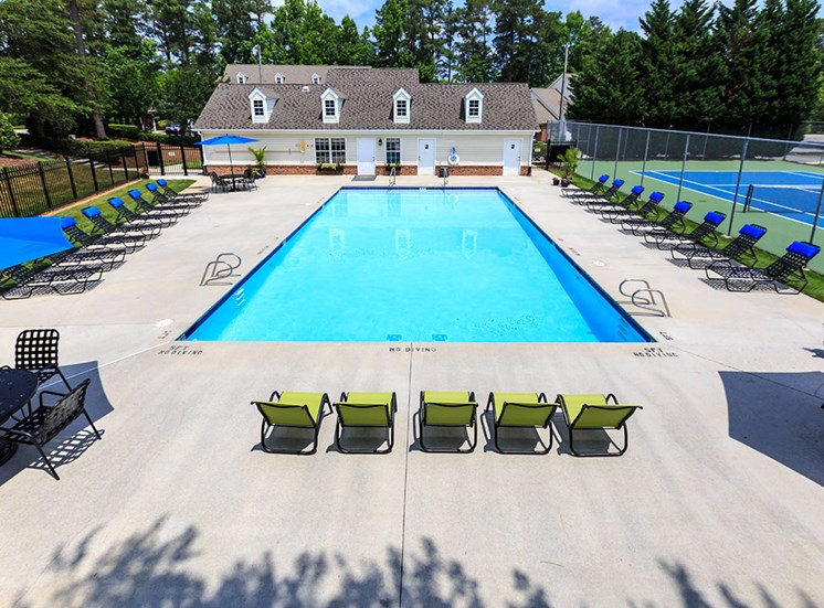 Pool and Chairs at Fairgate Apartments in Raleigh NC