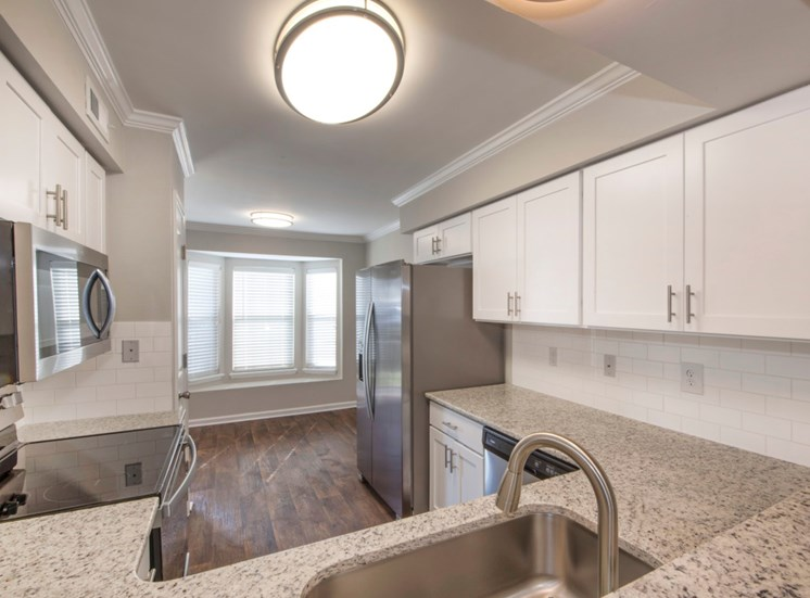 Renovated Kitchen at Fairgate Townhome and Apartments