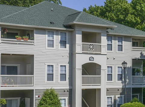 New building exteriors at Mayfaire Apartments in Raleigh, NC