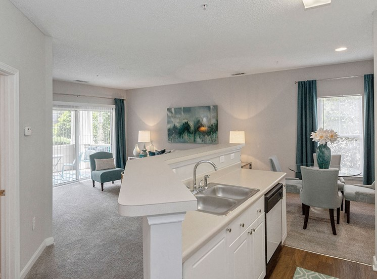 Kitchen Island at Mayfaire Apartments in Raleigh NC