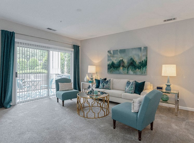 Living Room at Mayfaire Apartments in Raleigh NC