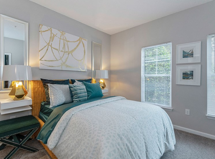 Bedroom at Mayfaire Apartments in Raleigh NC